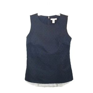 Banana republic blue Sleeveless blouse size 6